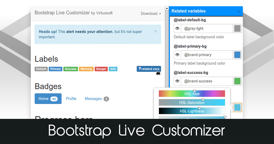 Bootstrap Live Customizer