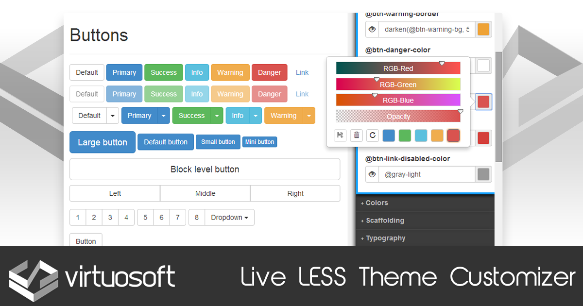 Live LESS Theme Customizer